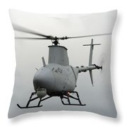 A Rq-8a Fire Scout Unmanned Aerial Throw Pillow