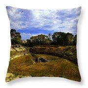 A Ruin In Sicily Throw Pillow