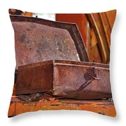 A Rusy Toolbox Throw Pillow