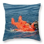 A Sailor Rescued By A Diver Throw Pillow