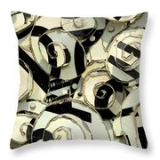 A Scattering Of Zebras Throw Pillow