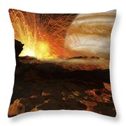 A Scene On Jupiters Moon, Io, The Most Throw Pillow