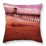 A Scenic Beach Throw Pillow