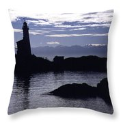 A Scenic Lighthouse Throw Pillow