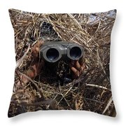 A Scout Observer Practices Observation Throw Pillow