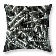 A Screwy Photograph Throw Pillow