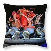 A Seafood Orgy Throw Pillow
