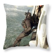 A Search And Rescue Swimmer Student Throw Pillow