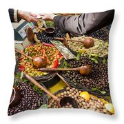 A Selection Of Olives Sit Throw Pillow
