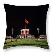 A Serene Ho Chi Minh Mausoleum Throw Pillow