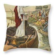A Sermon  Throw Pillow by English School