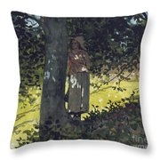 A Shady Spot Throw Pillow