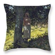 A Shady Spot Throw Pillow by Winslow Homer