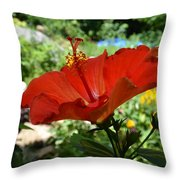 A Side Of Hibiscus Throw Pillow