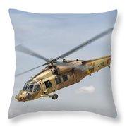 A Sikorsky Uh-60 Black Hawk Yanshuf Throw Pillow