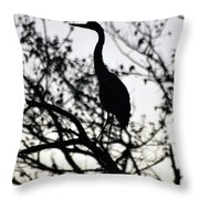 A Simple Silhouette Throw Pillow