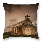 A Simple Wooden Church Throw Pillow