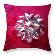 A Single Bow Throw Pillow
