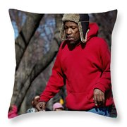 A Skater In Central Park - 2 Throw Pillow