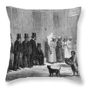 A Slave-pen At New Orleans Before Throw Pillow by Photo Researchers