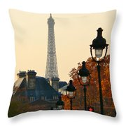 A Slice Of Paris Throw Pillow