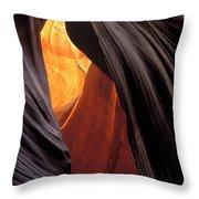 A Slot Canyon View Throw Pillow