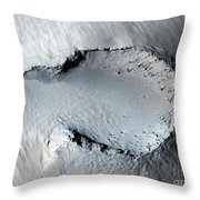 A Small Cone On The Side Of One Of Mars Throw Pillow