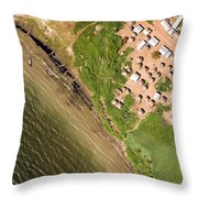 A Small Town On The Northern Shore Throw Pillow