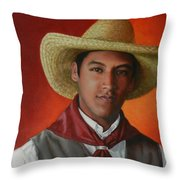 A Smile From The Andes, Peru Impression Throw Pillow