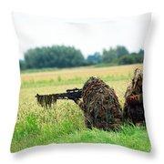 A Sniper Unit Of The Paracommandos Throw Pillow