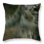A Snow Leopard Throw Pillow