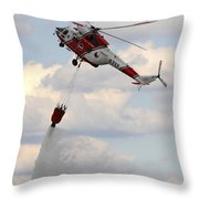 A Sokol W-3a Helicopter Of The Czech Throw Pillow