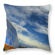 A Solar Panel In The Desert Of South Throw Pillow