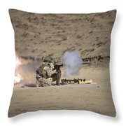 A Soldier Fires A Rocket-propelled Throw Pillow