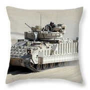 A Soldier Looks Out Of The Top Hatch Throw Pillow