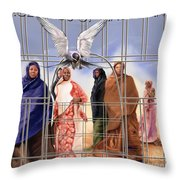 A Song For The Caged Birds Of Mauritania Throw Pillow
