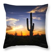 A Sonoran Sunset  Throw Pillow