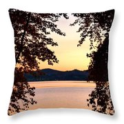 A Soothing Sunset Throw Pillow