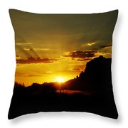 A Southwest Sunrise  Throw Pillow