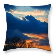 A Spring Sunset Throw Pillow