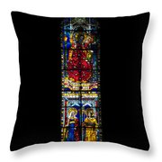 A Stained Glass Window Lit By The Day Throw Pillow