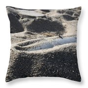 A Static Display Of An Ordnance Shell Throw Pillow by Stocktrek Images
