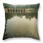 A Stone Bridge Built By The Civilian Throw Pillow