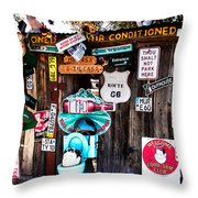 A Stop Along Route 66 Throw Pillow