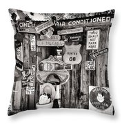 A Stop Along Route 66 II Throw Pillow