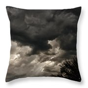 A Storm Is Born Throw Pillow