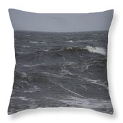 A Storm Lashed Hudsons Bay In Autumn Throw Pillow