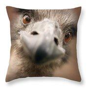 A Strange Look Throw Pillow