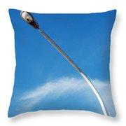 A Street Light Pole Throw Pillow