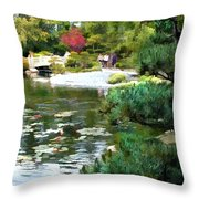 A Stroll In Peace And Tranquility Throw Pillow